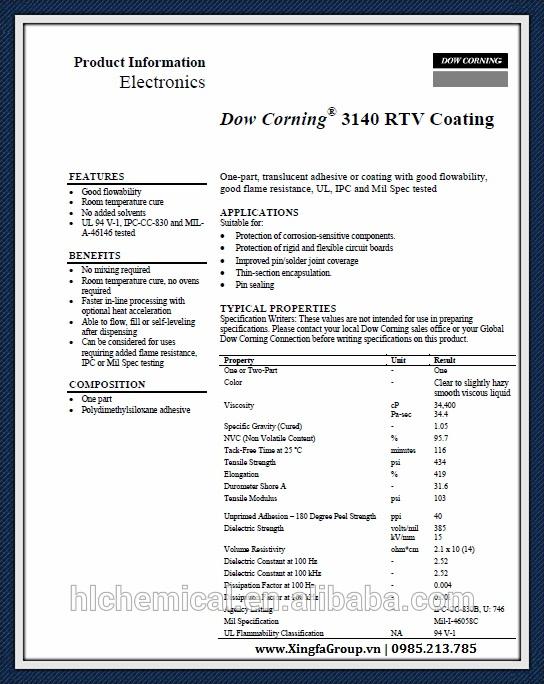 Chứng nhận chất lượng keo DOW dùng thi công cửa nhôm Xingfa - 2