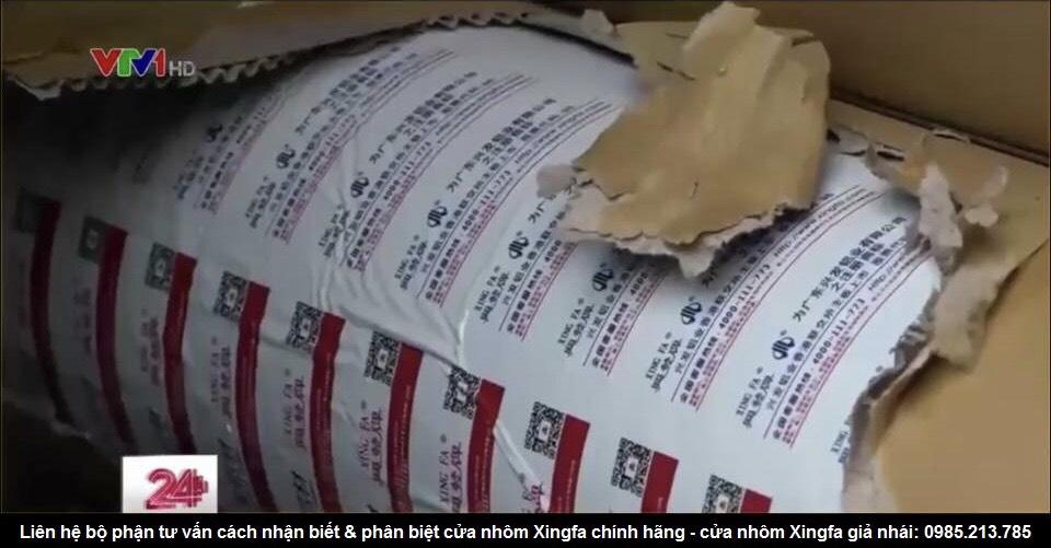 Cửa nhôm Xingfa giả nhái kém chất lượng