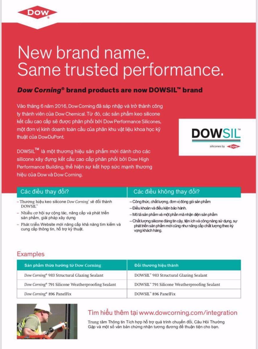 Chứng nhận chất lượng keo DOW dùng thi công cửa nhôm Xingfa - 14