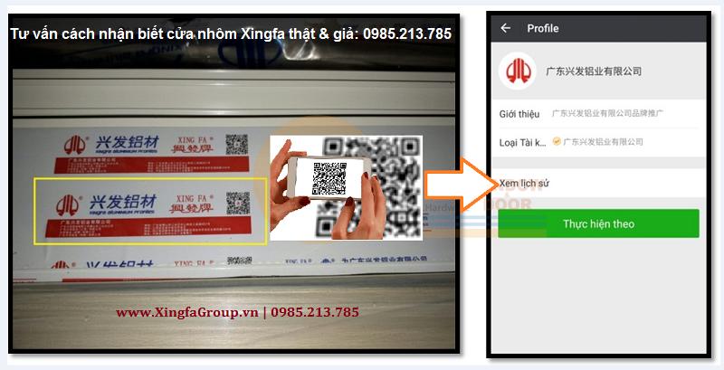 Phần mềm quét mã cửa nhôm Xingfa