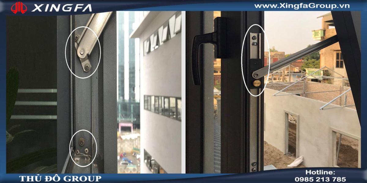 khác biệt giữa cửa nhôm Xingfa nhập khẩu và cửa nhôm Xingfa giá rẻ - 3