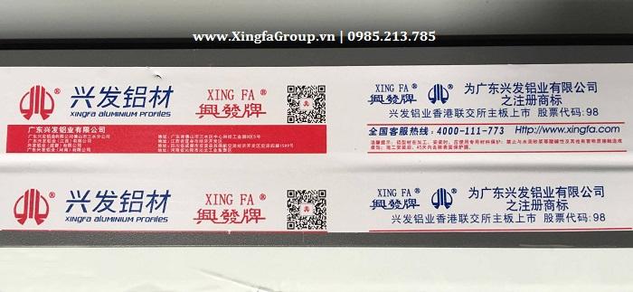 Hình ảnh mẫu tem cửa nhôm Xingfa nhập khẩu chính hãng 100%